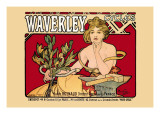 Waverley Cycles Wall Decal by Alphonse Mucha