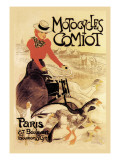 Motorcycles Comiot Wall Decal by Thophile Alexandre Steinlen