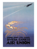 Riviera Express Air Union Wall Decal by Edmond Maurus