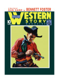 Western Story Magazine: Gun Hand Wall Decal