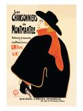 Les Chansonniers de Montmartre Wallstickers af Henri de Toulouse-Lautrec