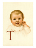 Baby Face T Wall Decal by Ida Waugh