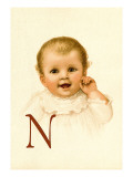 Baby Face N Wall Decal by Ida Waugh
