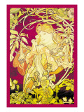 Ivy Wall Decal by Alphonse Mucha