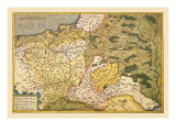 Map of Poland and Eastern Europe Wall Decal by Abraham Ortelius
