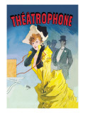 Theatrophone Wall Decal by Jules Chéret