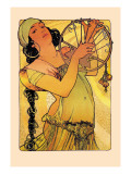 Salome Wall Decal by Alphonse Mucha