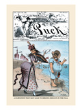 Puck Magazine: A Flirtation Wall Decal by Frederick Burr Opper