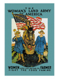 The Woman's Land Army of America Wallstickers
