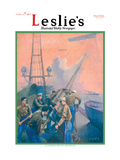 Leslie's: U.S. Marines at the Anti-Aircraft Gun Wall Decal by Shafer