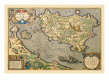 Map of a Mediterranean Island Wall Decal by Abraham Ortelius