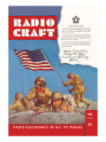 Radio Craft: American Soldiers Stake the Flag Wall Decal