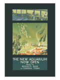 The New Aquarium Now Open Wall Decal by George Sheringham