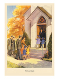 We Go to Church Wall Decal by Dorothy Handsaker