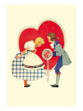 Take a Bow at the Heart Wall Decal