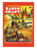 Radio-Craft: Ground Troops Wall Decal by Alex Schomburg