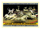 Living Statues on Horseback: The Original Adam Forepaugh Shows Wall Decal