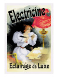 Electricine, Eclairage de Luxe Wall Decal by Jules Chéret