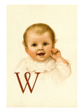 Baby Face W Wall Decal by Dorothy Waugh