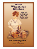 In Her Wheatless Kitchen Vinilos decorativos por Howard Chandler Christy