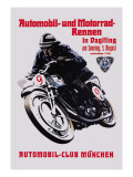 Automobile and Motorcycle Race, Munich Wall Decal