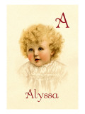 A for Alyssa Wall Decal by Ida Waugh