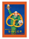Bretzels Singer, Avec la Biere et la Vin Wall Decal by  Lotti