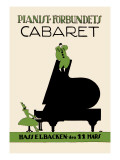 Pianist Forbundiets Cabaret Wall Decal by Kage