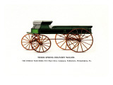 Three-Spring Delivery Wagon Wall Decal