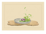 Foxtail Grass, Eggplant, and Cucumber Wall Decal by Sofu Teshigahara