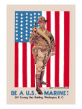Be a U.S. Marine, Evening Star Building Wall Decal by James Montgomery Flagg