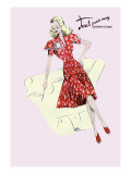 Polka-Dot Spring Dress Wall Decal