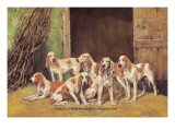 Franche Comet Hounds Wall Decal by Baron Karl Reille
