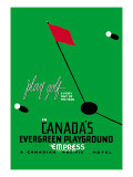 Play Golf in Canada's Evergreen Playground Wall Decal