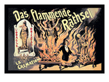 Das Flammende Rathsel Wall Decal by Adolph Friedlander