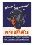 Women! You Are Needed in the National Fire Service Wall Decal by George Gibbons