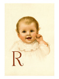 Baby Face R Wall Decal by Ida Waugh