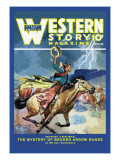 Western Story Magazine: Broken Arrow Range Wall Decal