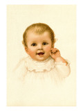 Baby Face Wall Decal by Ida Waugh