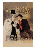 Mothu et Doria Autocollant mural par Théophile Alexandre Steinlen