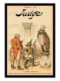Judge Magazine: A Friendly Admonition Wall Decal by Bernhard Gillam
