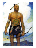 The Last of the Mohicans Wall Decal by Newell Convers Wyeth