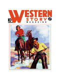 Western Story Magazine: Western Pair Wall Decal