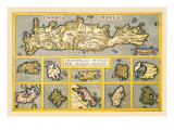 Maps of Mediterranean Islands Wall Decal by Abraham Ortelius