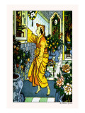 Aladdin Secures the Lamp Wall Decal by Walter Crane