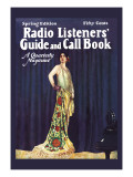 Radio Listeners' Guide and Call Book, Spring Edition Wall Decal