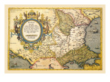 Map of the Balkans Wall Decal by Abraham Ortelius