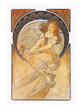 Painting Wall Decal by Alphonse Mucha