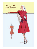 Casual Dress in Red Wall Decal