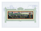 Manor House Coffee Wall Decal